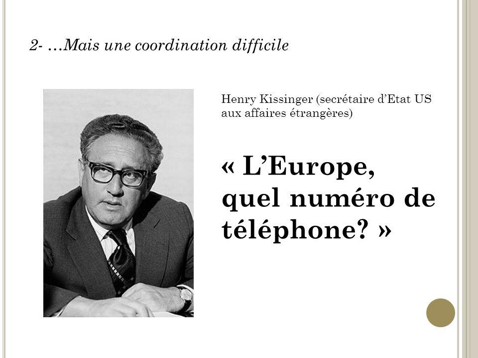 « L'Europe, quel numéro de téléphone »