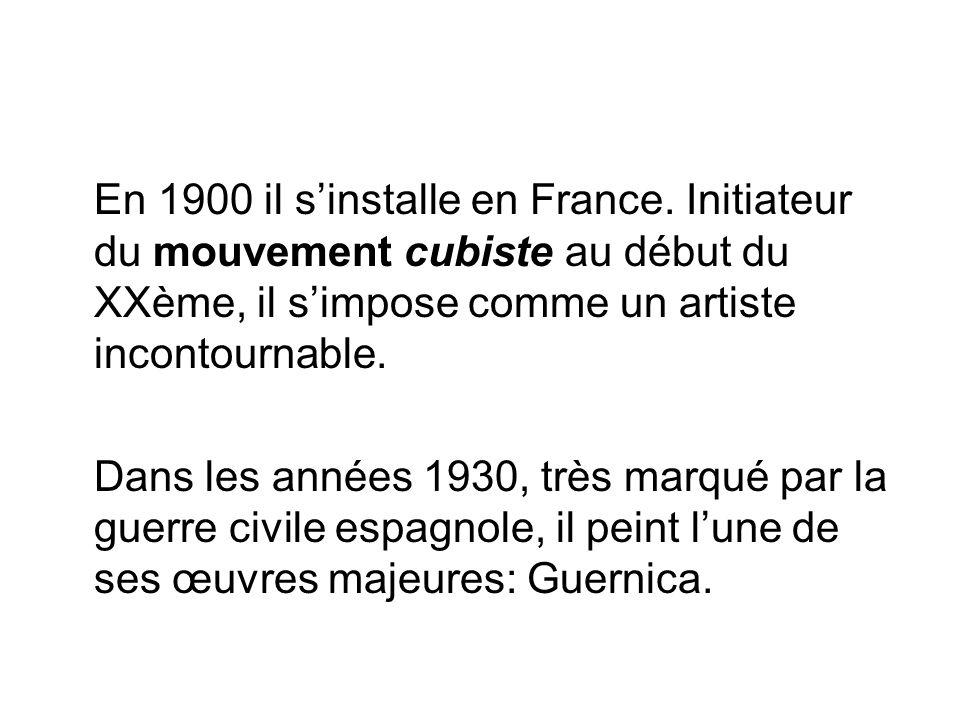 En 1900 il s'installe en France