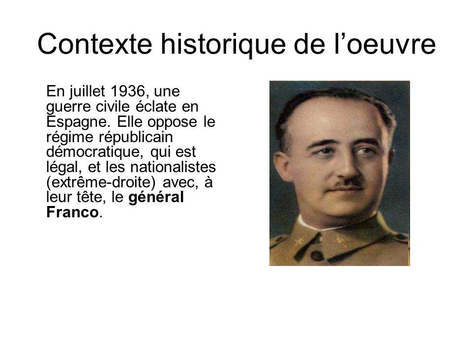 Contexte historique de l'oeuvre