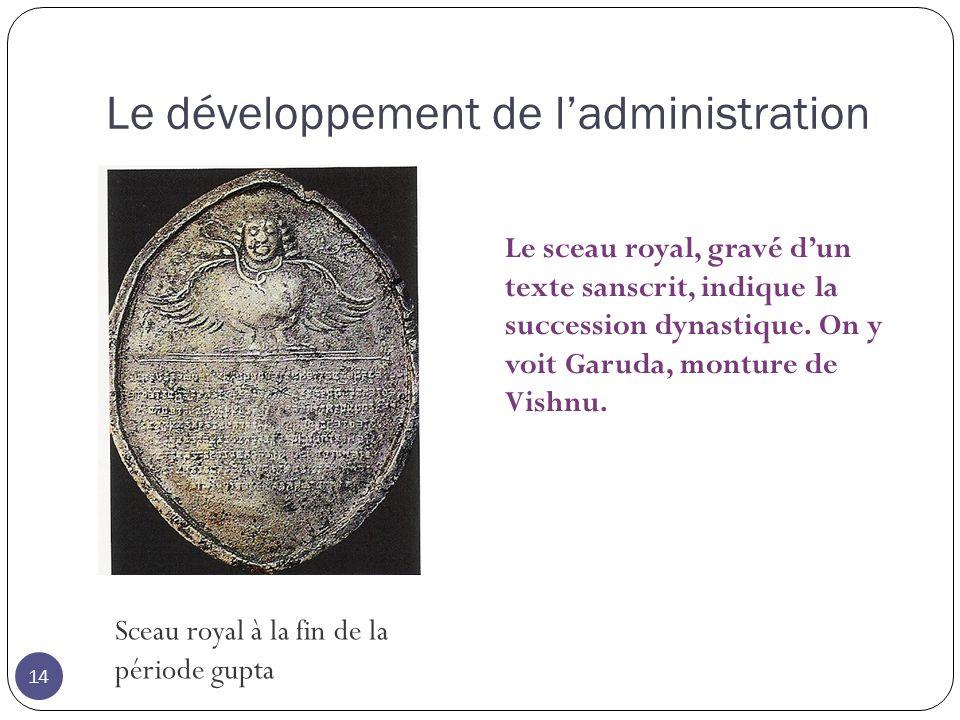 Le développement de l'administration