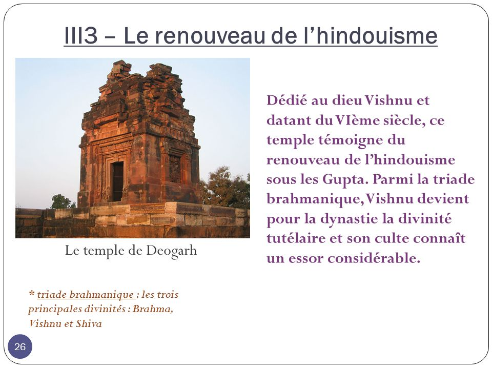 III3 – Le renouveau de l'hindouisme