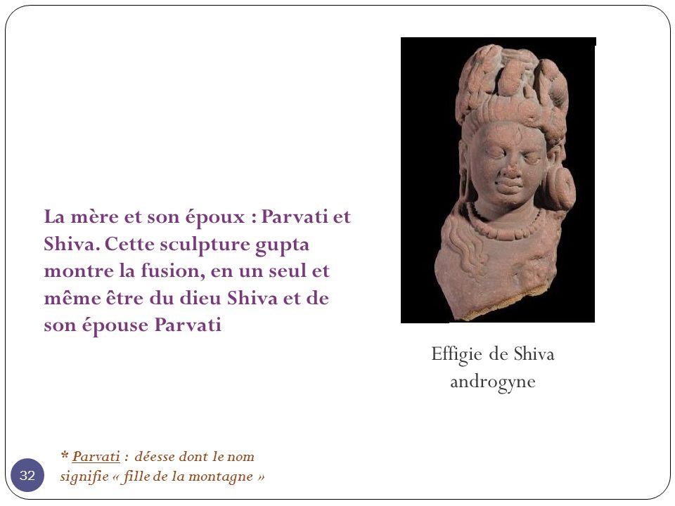 Effigie de Shiva androgyne