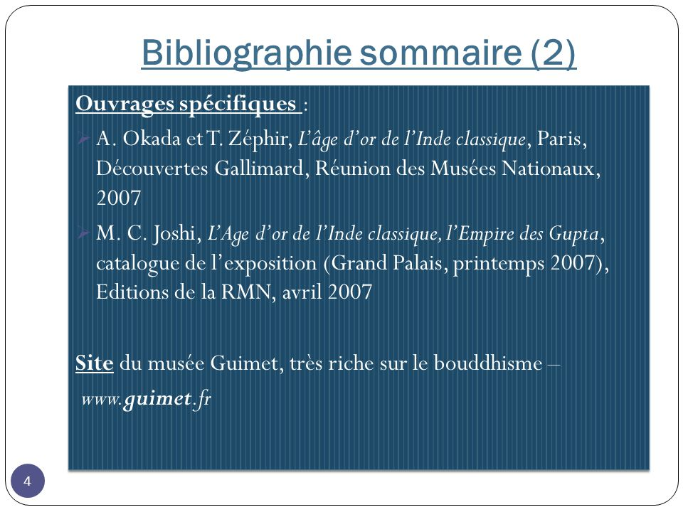 Bibliographie sommaire (2)