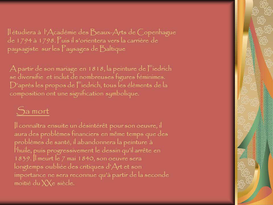 Il étudiera à l'Académie des Beaux-Arts de Copenhague de 1794 à 1798