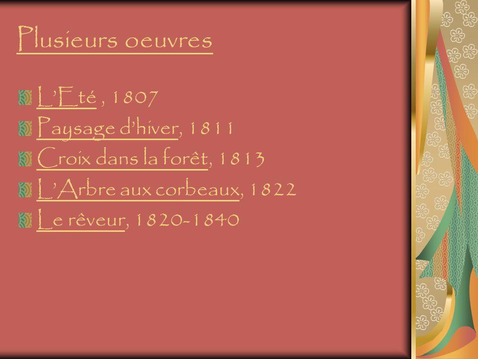 Plusieurs oeuvres L'Eté , 1807 Paysage d'hiver, 1811