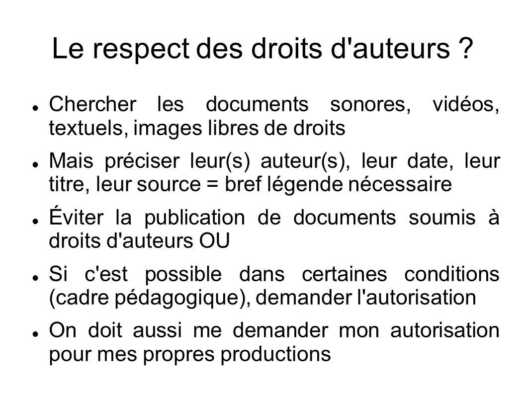 Le respect des droits d auteurs