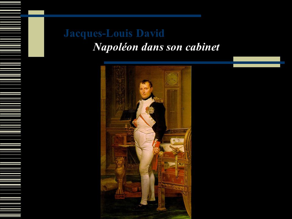 Jacques-Louis David Napoléon dans son cabinet