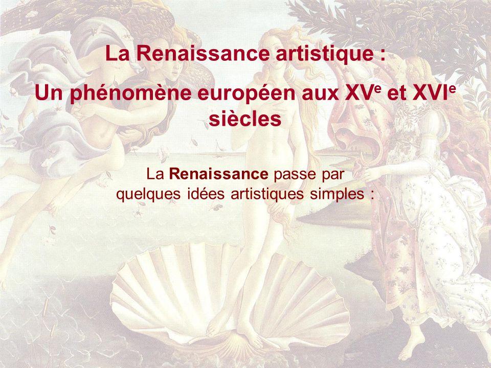 La Renaissance artistique :