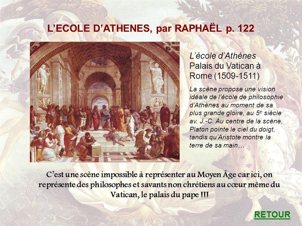 L'ECOLE D'ATHENES, par RAPHAËL p. 122