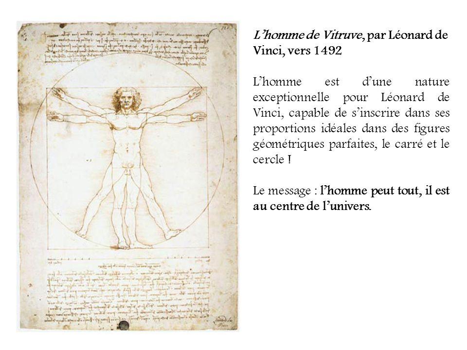 L'homme de Vitruve, par Léonard de Vinci, vers 1492