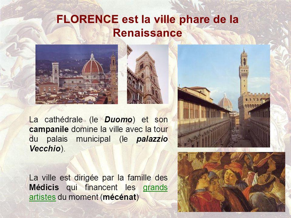 FLORENCE est la ville phare de la Renaissance