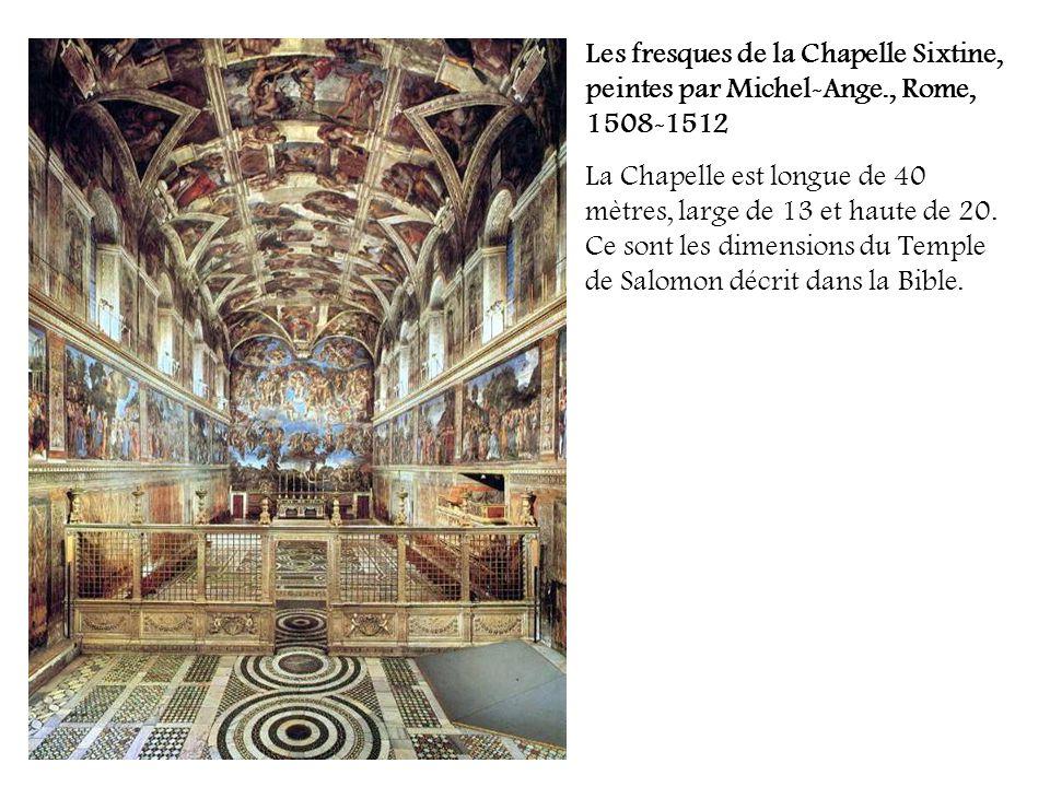 Les fresques de la Chapelle Sixtine, peintes par Michel-Ange