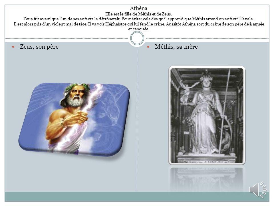 Zeus, son père Méthis, sa mère