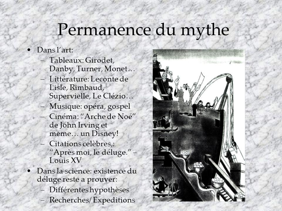 Permanence du mythe Dans l'art: