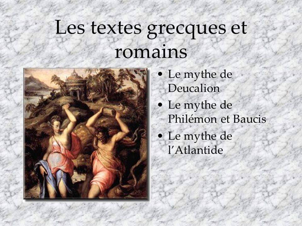 Les textes grecques et romains
