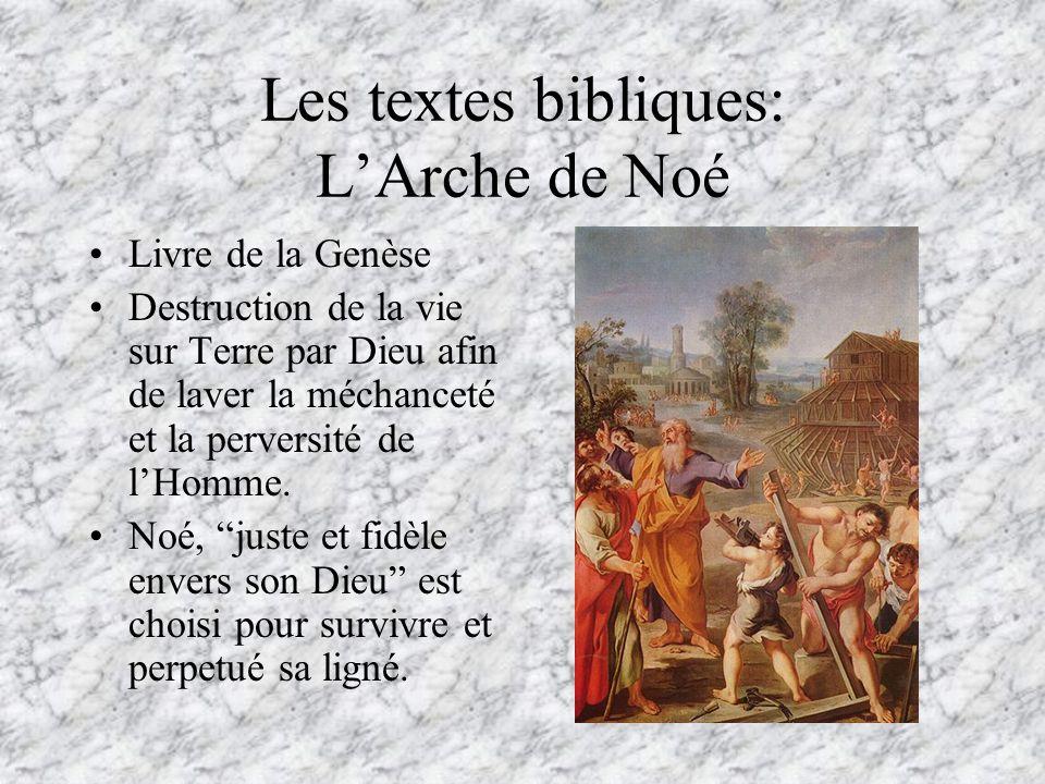 Les textes bibliques: L'Arche de Noé