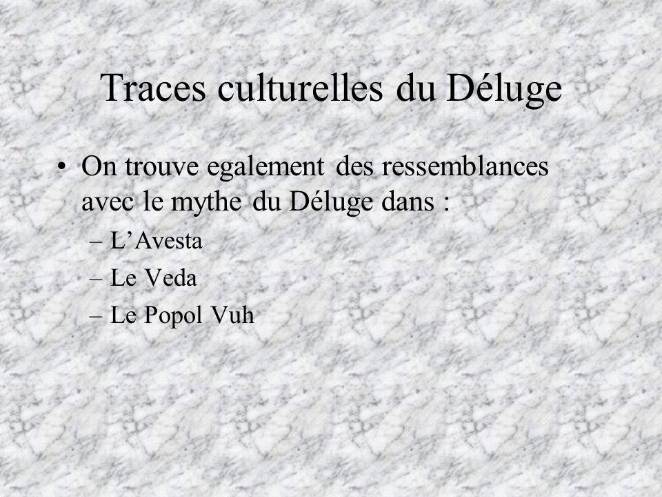 Traces culturelles du Déluge