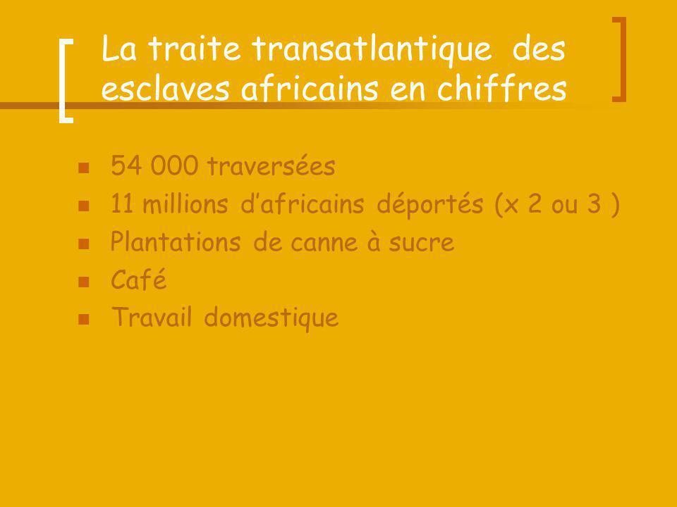 La traite transatlantique des esclaves africains en chiffres