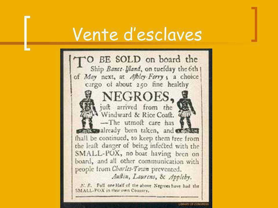 Vente d'esclaves