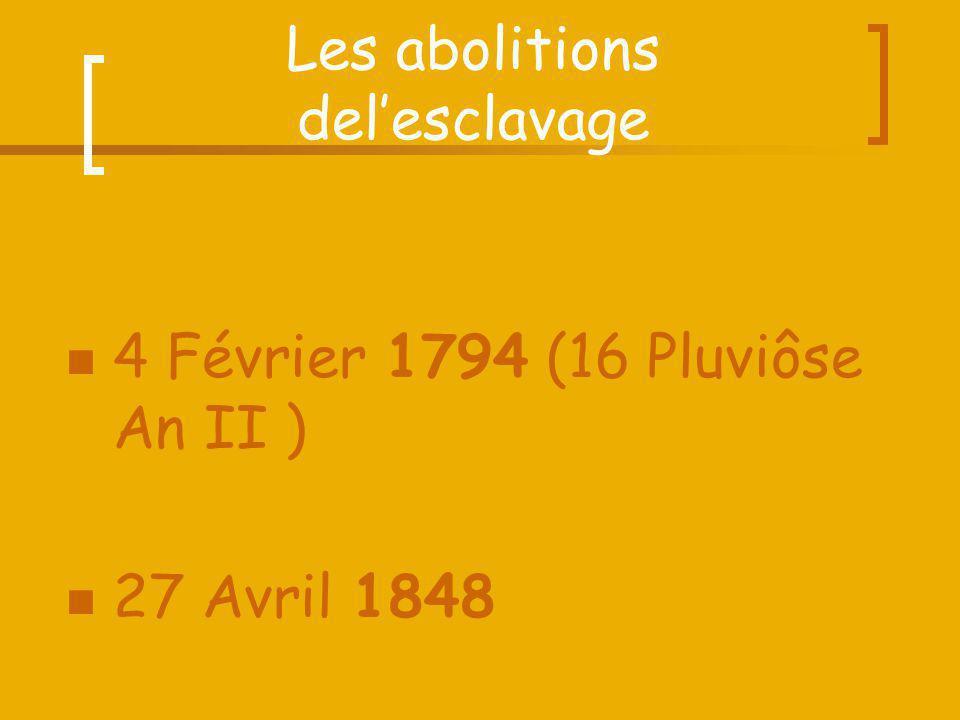 Les abolitions del'esclavage