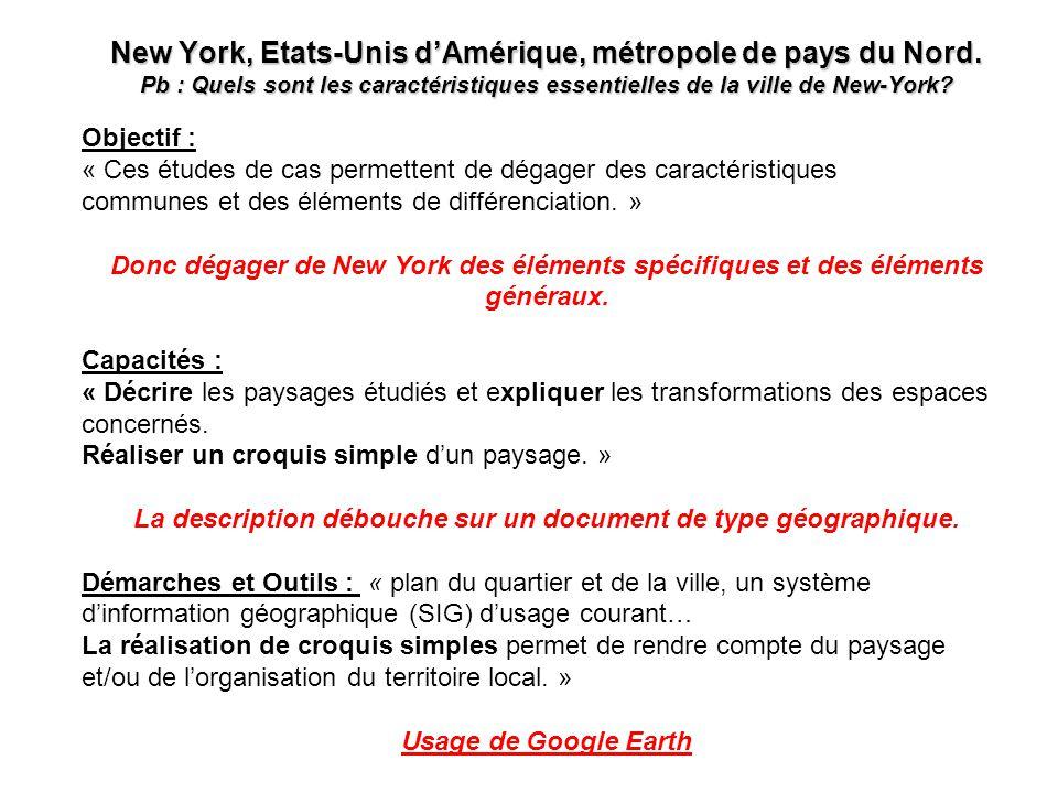 La description débouche sur un document de type géographique.