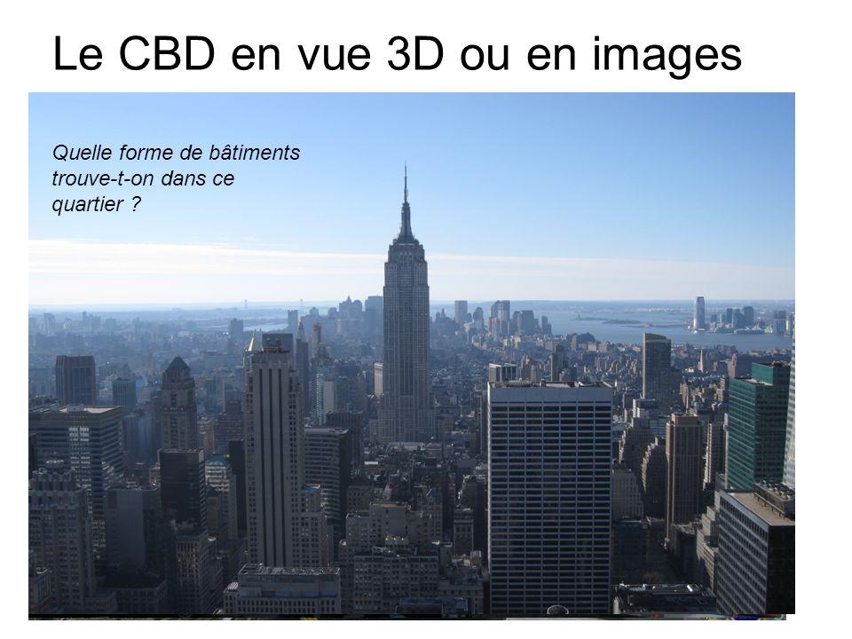 Le CBD en vue 3D ou en images