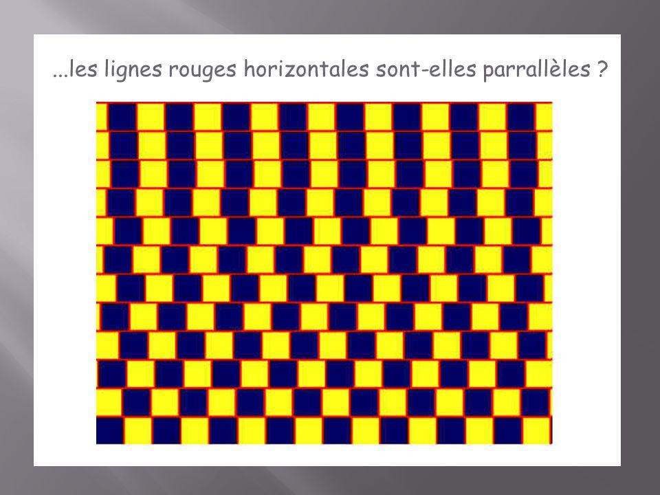 ...les lignes rouges horizontales sont-elles parrallèles