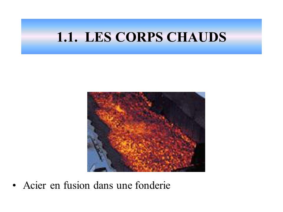 1.1. LES CORPS CHAUDS Acier en fusion dans une fonderie