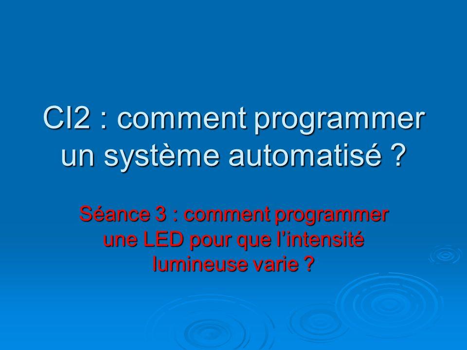 CI2 : comment programmer un système automatisé