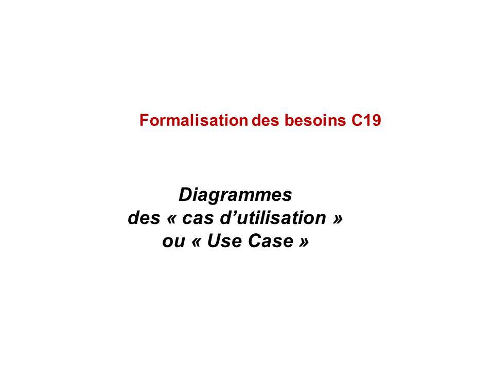 Diagrammes des « cas d'utilisation » ou « Use Case »