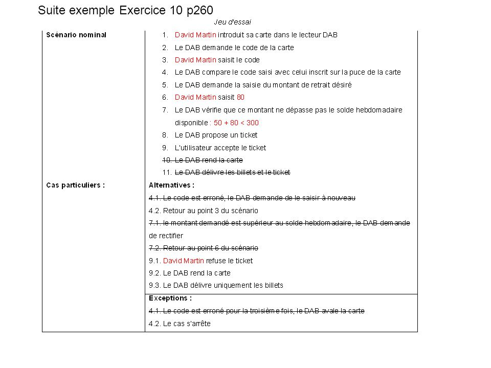 Suite exemple Exercice 10 p260
