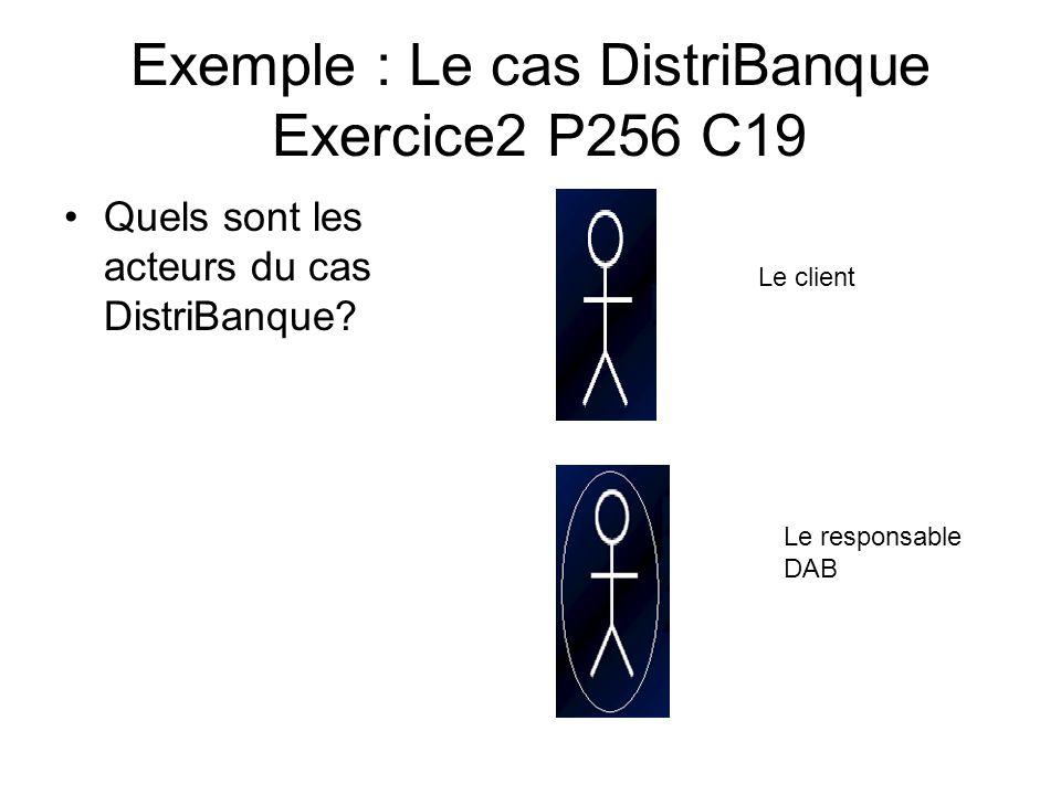 Exemple : Le cas DistriBanque Exercice2 P256 C19