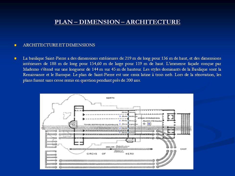 PLAN – DIMENSION – ARCHITECTURE