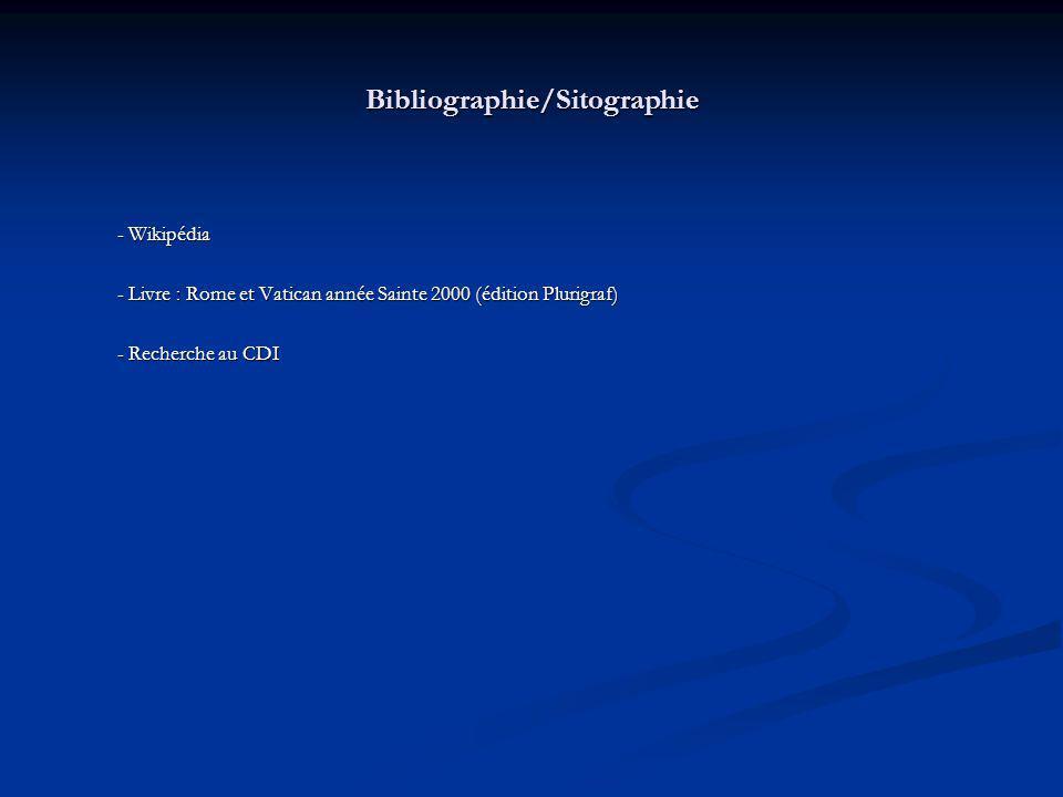 Bibliographie/Sitographie
