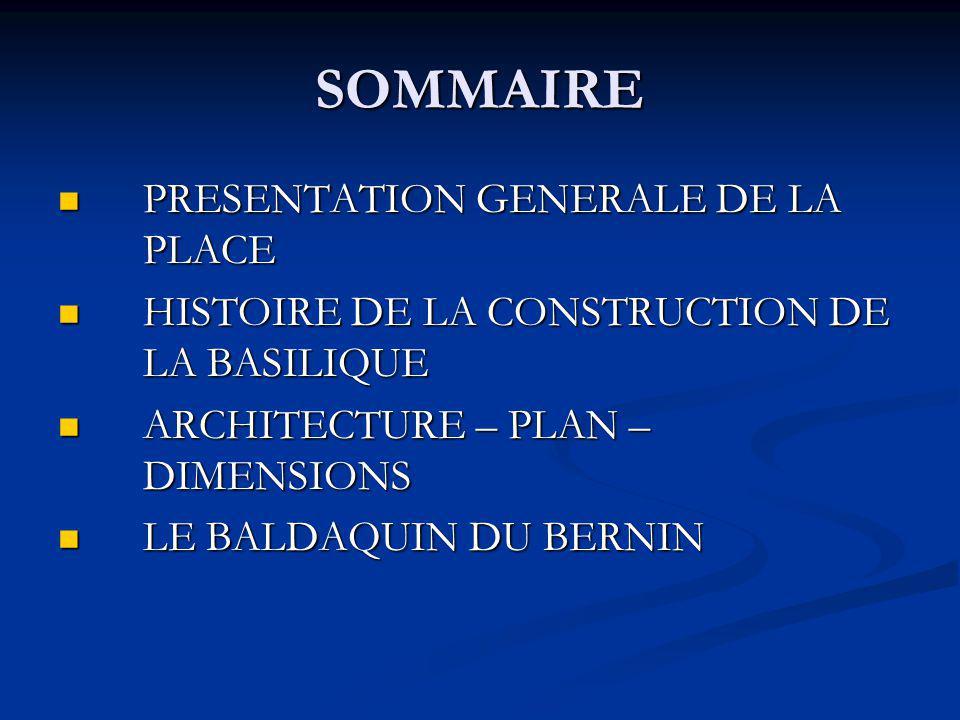 SOMMAIRE PRESENTATION GENERALE DE LA PLACE