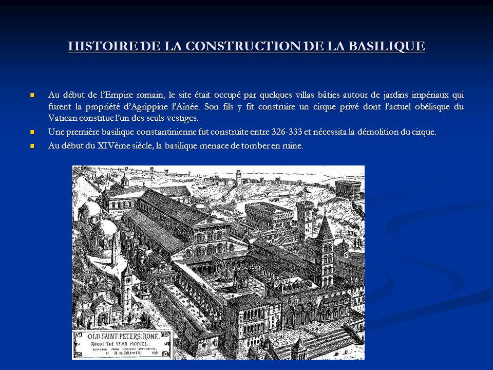 HISTOIRE DE LA CONSTRUCTION DE LA BASILIQUE