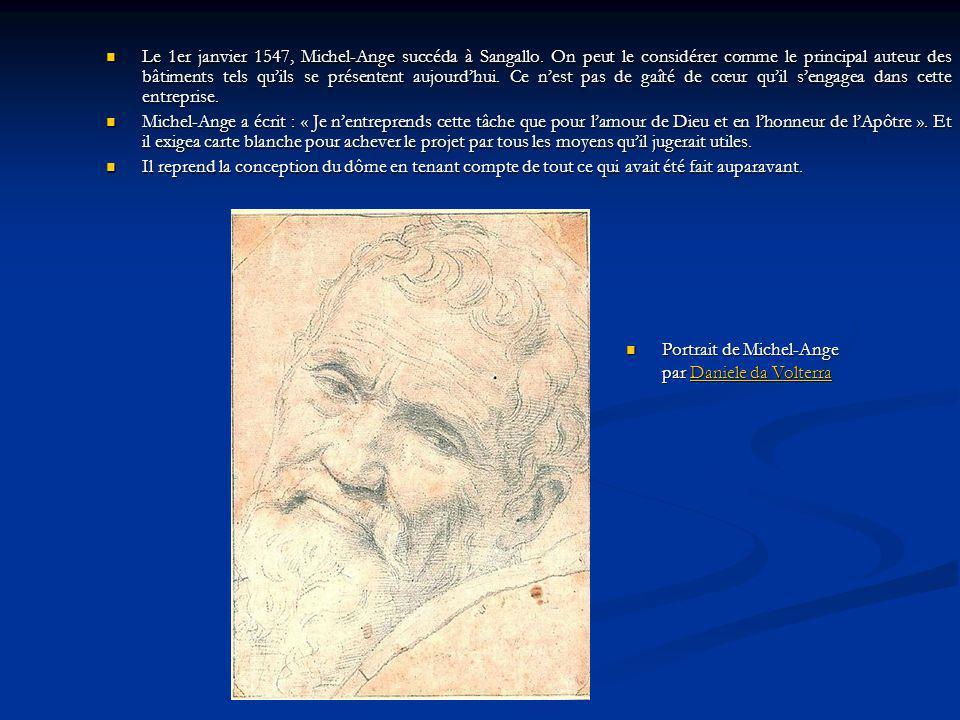 Le 1er janvier 1547, Michel-Ange succéda à Sangallo