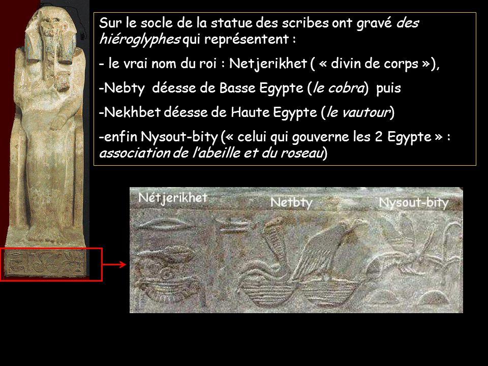 - le vrai nom du roi : Netjerikhet ( « divin de corps »),