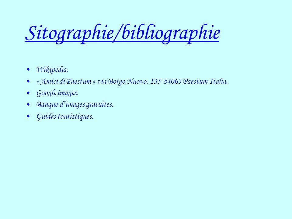Sitographie/bibliographie