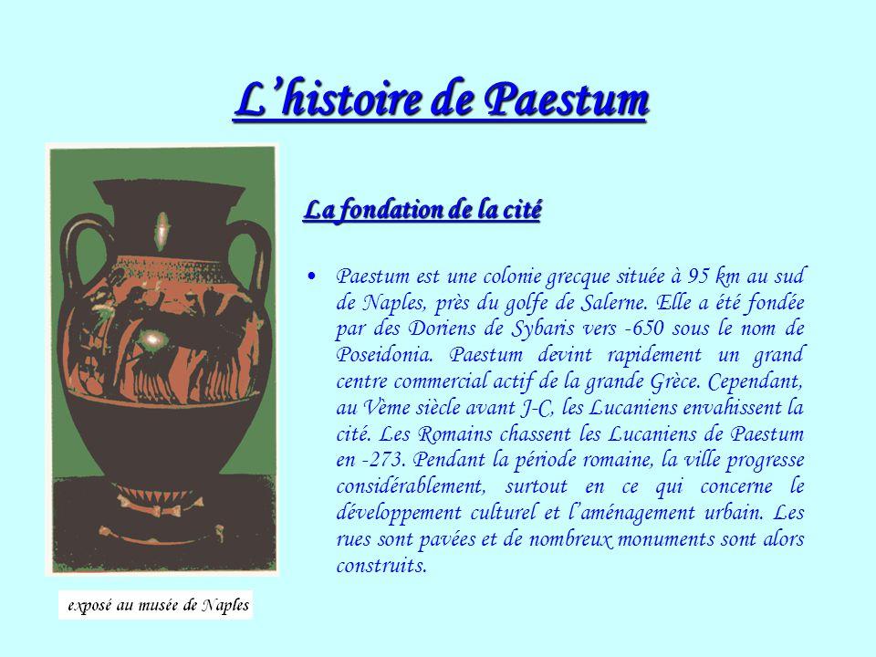 L'histoire de Paestum La fondation de la cité