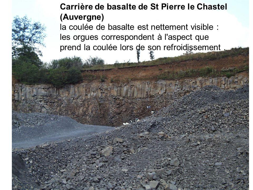 Carrière de basalte de St Pierre le Chastel (Auvergne)