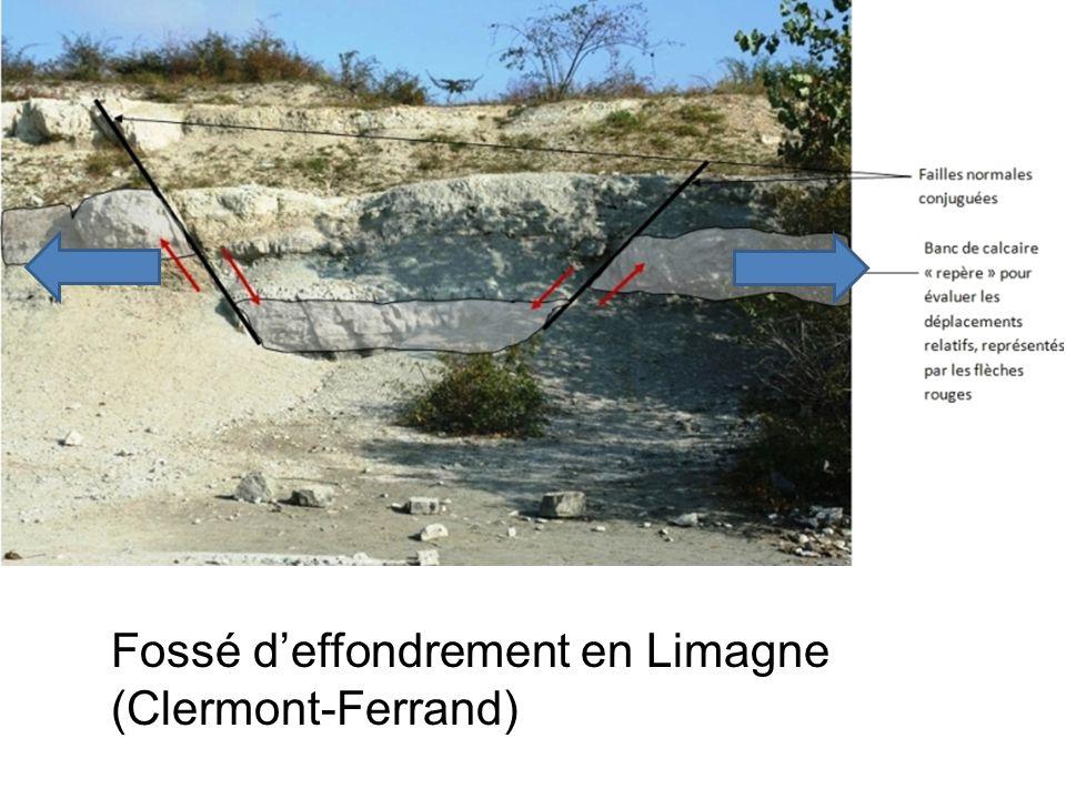 Fossé d'effondrement en Limagne (Clermont-Ferrand)
