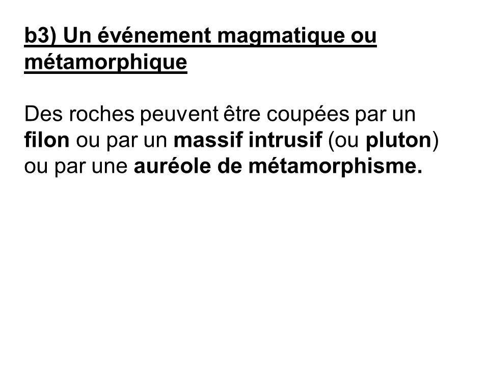 b3) Un événement magmatique ou métamorphique