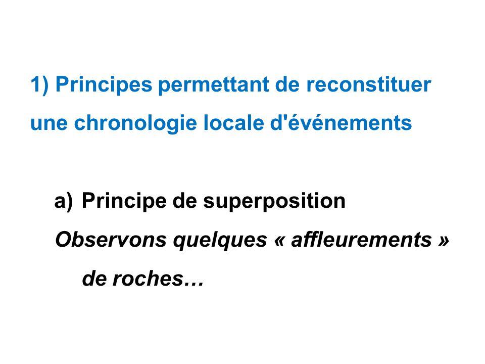 1) Principes permettant de reconstituer une chronologie locale d événements