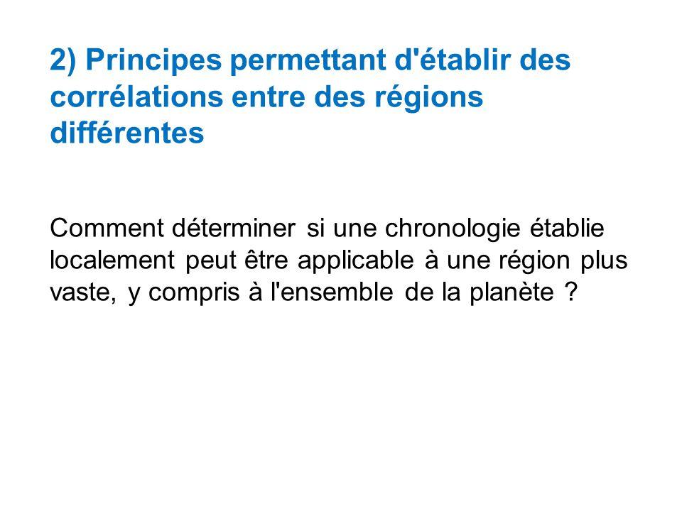 2) Principes permettant d établir des corrélations entre des régions différentes