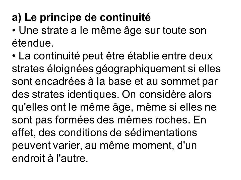 a) Le principe de continuité