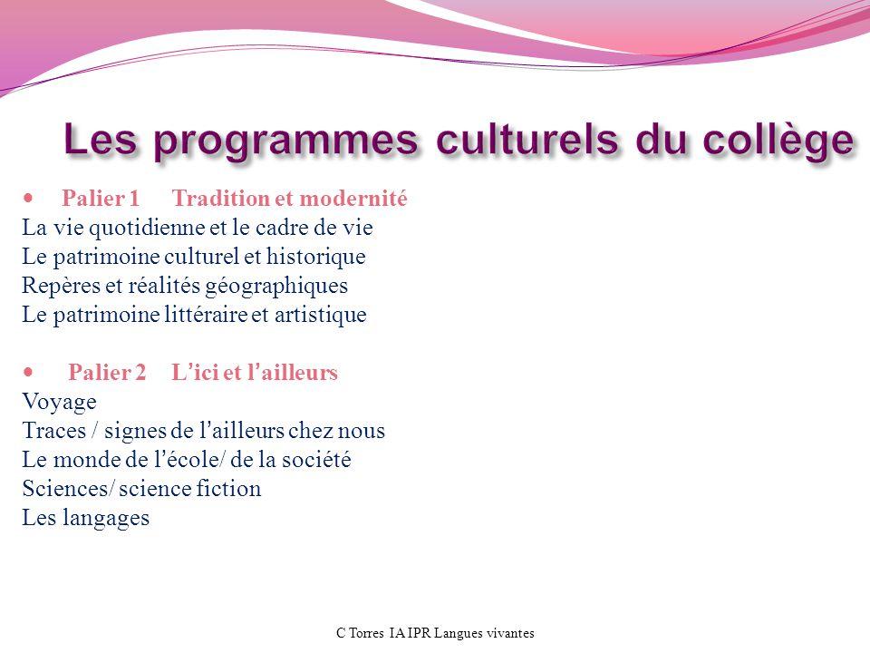 Les programmes culturels du collège