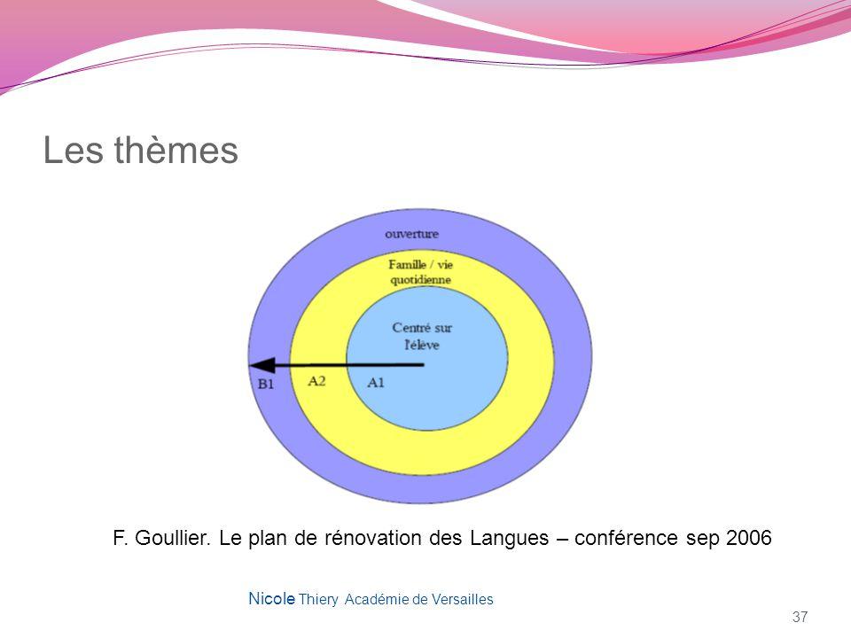 Les thèmes F. Goullier. Le plan de rénovation des Langues – conférence sep 2006.