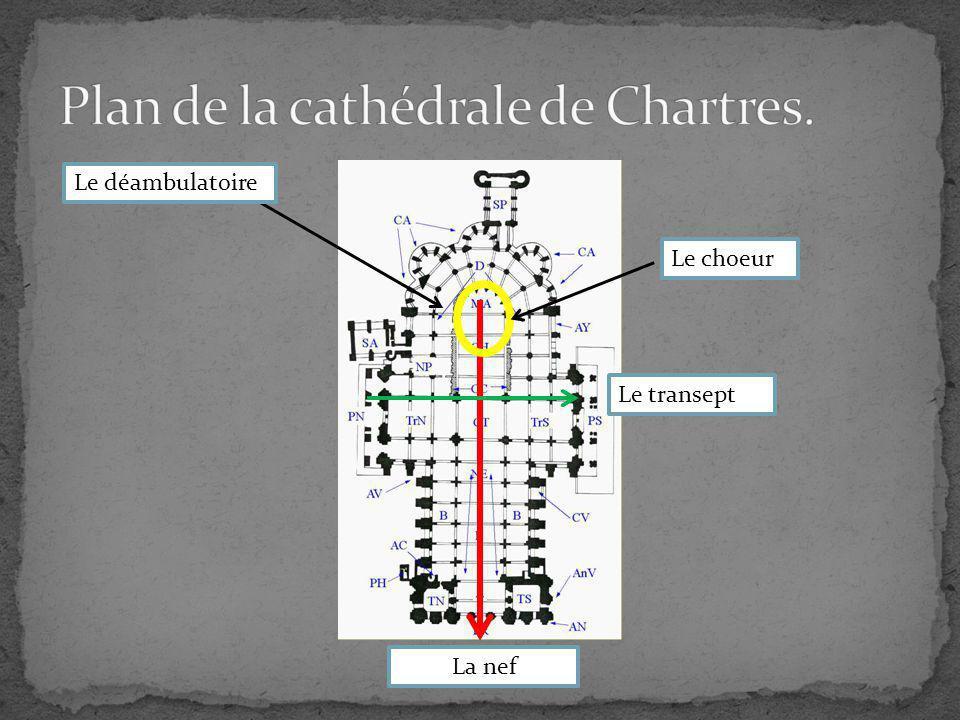 Plan de la cathédrale de Chartres.