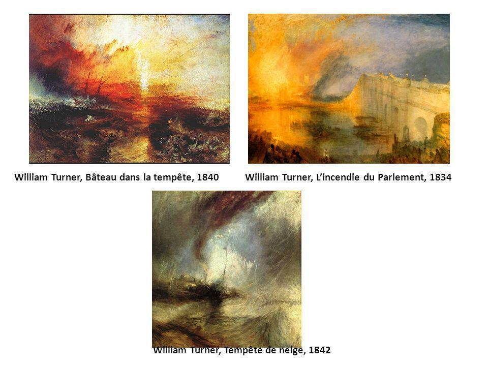 William Turner, Bâteau dans la tempête, 1840